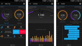 Was Du nicht auf der Uhr findest, kannst Du in der Garmin-Connect-App einsehen.