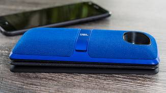 Der Mini-Lautsprecher macht das Z2 Play ziemlich fett, liefert aber einen guten Sound.