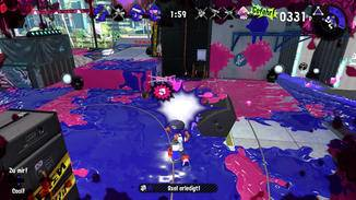 "Action in ""Splatoon 2""."