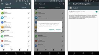 Zum Sperren von Apps benötigt AppLock den Zugriff auf die Nutzungsdaten.