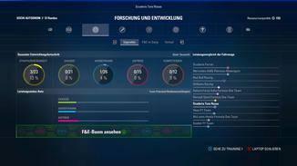 Die Fahrzeugentwicklung ist einer der Kernbereiche des Spiels.