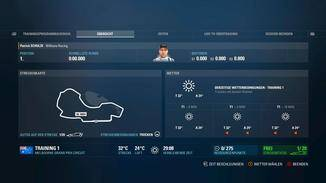 Über einen Monitor erhalten wir alle Infos zur Strecke und zu den Rundenzeiten der Konkurrenz.