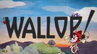 """Ein beherztes """"Wallop!"""" – und Cuphead zieht in den Kampf. Gegen manche Bosse tritt er in einem kleinen Flugzeug an."""