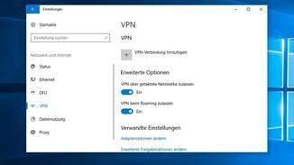 Auch über die Windows-Einstellungen lässt sich ein VPN-Client einrichten.
