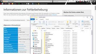 """Unter """"about:support"""" bei Profilordner auf """"Ordner öffnen"""" klicken..."""