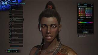 Der Spielercharakter wird in einem unglaublich umfangreichen Editor erstellt. Sogar unterschiedliche Augenfarben sind möglich.