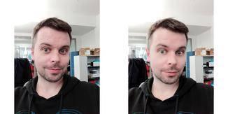 """Die Selfie-Cam bietet Huawei-typische Filter zur """"Verschönerung"""" des Gesichts."""