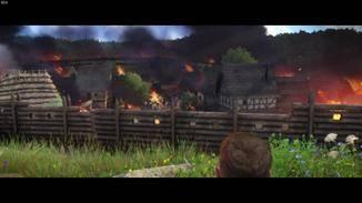 Als sein Dorf niedergebrannt wird, sinnt er auf Rache.