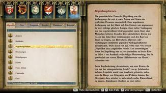 Im Glossar finden Hobby-Historiker allerlei Wissenswertes zum historischen Hintergrund des Spiels.