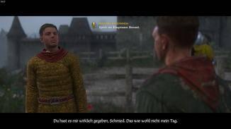 Mit dem schnöseligen Adligen Hans gerät er mehrfach aneinander – Schwertduelle inklusive.