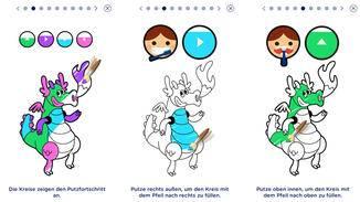 Die App erklärt Dir genau, wie Du putzen musst, um das Spiel zu meistern.
