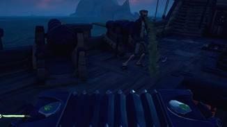 Auch dem härtesten Piraten schlägt der Grog auf den Magen.