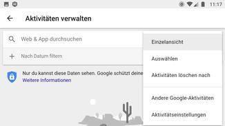 Den Suchverlauf kannst Du in den Android-Einstellungen löschen.