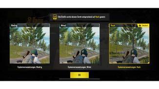 """PUBG Mobile"" bietet drei unterschiedliche Grafik-Modi."