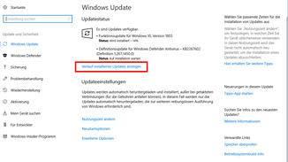 """... und dann auf """"Verlauf installierter Updates anzeigen""""."""