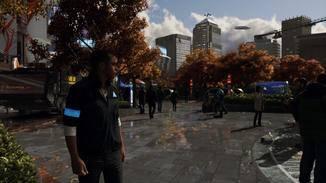 Das Detroit der Zukunft ist eine futuristische und lebendige Großstadt.