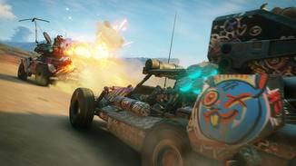 """Rasereien in aufgemotzten Fahrzeugen gehören zum """"Rage 2""""-Gameplay ebenso, ..."""