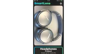 SmartLens erkennt Objekte wie Kopfhörer....