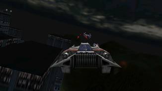 Die Tie-Bomber richten großen Schaden an Gebäuden und Transport-Fahrzeugen an.