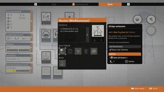 Die Einrichtungen produzieren Items und können mit Mods aufgerüstet werden.