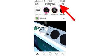 Hinter diesem Button versteckt sich das neue IGTV in der normalen Instagram-App.