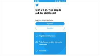 Twitter Lite erlaubt nur die Anmeldung mit einem Konto.