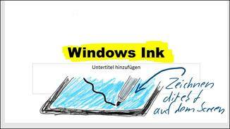 Zum grafischen Veranschaulichen ist die Ink-Funktion aber hervorragend geeignet.