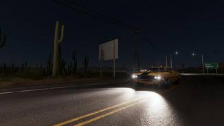 Nachts sieht die Spielwelt besonders gut aus.