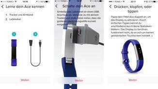 Im neuen Familienkonto kannst Du ein Profil für Dein Kind einrichten und dann den Fitbit Ace koppeln.
