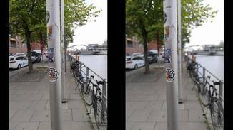 Links ohne und rechts mit Bokeh-Effekt.