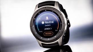 Per Knopfdruck will die Galaxy Watch Deinen Stresspegel messen.