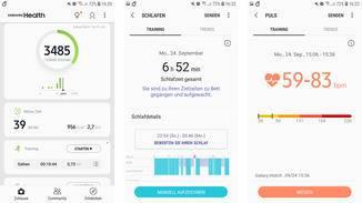 Fitness- und Gesundheitsdaten findest Du in der Samsung-Health-App.