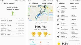 Workouts wie schnelles Gehen oder Laufen trackt die Uhr übrigens automatisch.