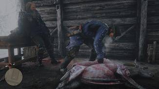 Nichts für zarte Gemüter: Das Häuten der Tiere ist detailliert animiert.