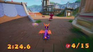 """Nicht ganz """"Tony Hawk's"""", aber auch in """"Spyro 3: Year of the Dragon"""" macht Skaten echt Laune."""