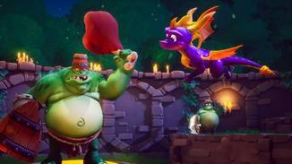 Auch große Gegner besiegt Spyro mit Leichtigkeit