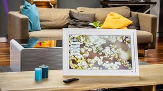 Der Framen Player ist dank Echtholzrahmen und Passepartout auch so hübsch anzusehen.