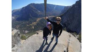 Die senkrechten Granitwände in Yosemite sind einfach beeindruckend!