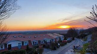 Hier ein toller Sonnenuntergang.