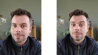 Die Frontkamera bietet durch die beiden Linsen einen sehr überzeugenden Bokeh-Effekt ...