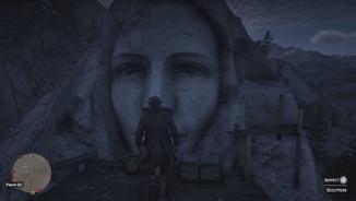In den Bergen von Amborino gibt es in der Felswand ein hübsches Frauengesicht mit einer traurigen Geschichte zu bewundern.