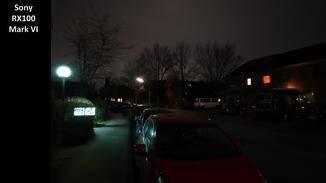Auch hier ist mit dem Nachtmodus der RX100 fast nichts mehr zu erkennen.