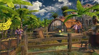 Die Bewohner der Inseln gehen täglichen Aufgaben nach.