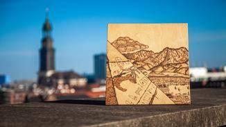"""Jasper versetzte uns mit seinem Holzbild zum Spiel """"Assassin's Creed Origins"""" in Staunen."""