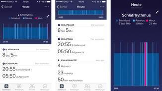 In übersichtlichen Statistiken werden Schlafphasen und Co. aufgeschlüsselt.