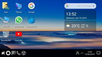 Der Computer Launcher bringt den Windows-Desktop-Look auf Android.