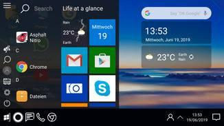 Auch das bekannte Kachelmenü von Windows 10 bietet die UI.