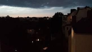 Nachts gibt es kaum noch etwas zu sehen.