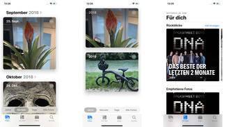 Die Fotos-App präsentiert sich in iOS 13 optisch etwas frischer und sortiert Bilder noch intelligenter als zuvor.