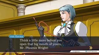 Franziska von Karma verschafft sich mit der Peitsche Respekt im Gerichtssaal.